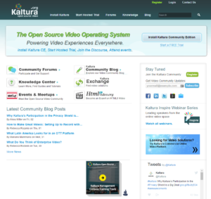 Kaltura Open Source Video Developer